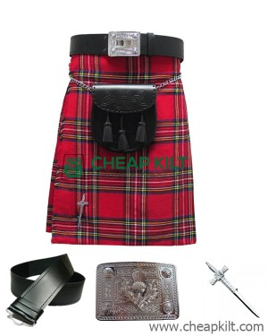 6 Pcs | Royal Stewart Tartan Wedding Kilt Outfit