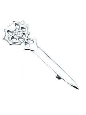 Thistle Head Kilt Pin Chrome Finish Wedding Stag Accessories
