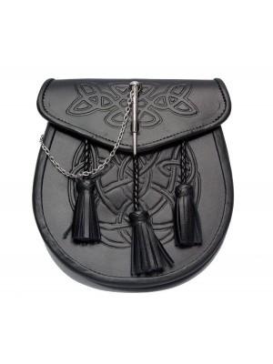 Embossed leather Semi Dress Pin lock Sporran