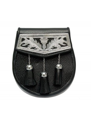 Celtic Cantle leather semi dress sporran