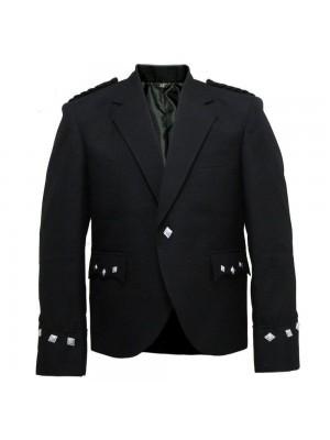 Men Military Black Jacket Kilt For Wedding