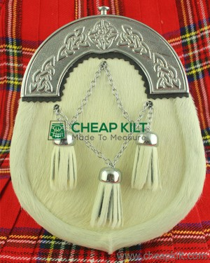 Cowhide Full Dress Sporran Celtic Cantle