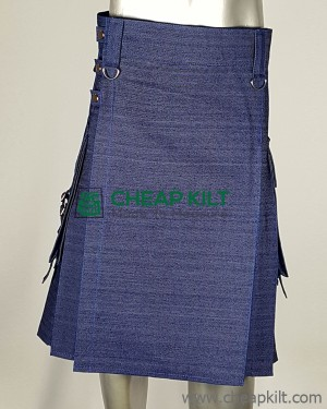 Deluxe Fashion Denim Kilt