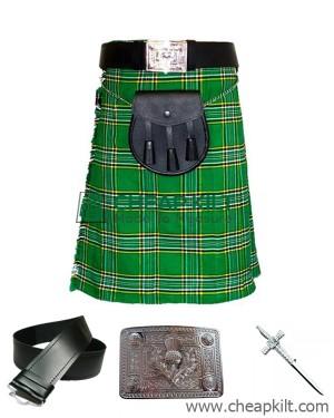 6 Pcs | Irish Tartan Wedding Kilt Outfit Custom Made