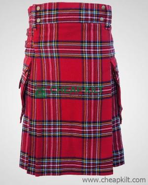Royal Stewart Utility Style Tartan Kilt