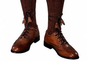 Genuine Leather Scottish Pride Brown Ghillie Brogues