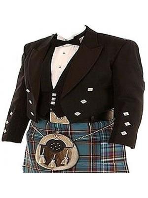 Prince Charlie Black kilt Jacket