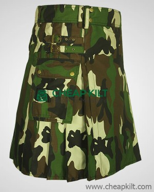 Woodland Camouflage Army Utility Kilt